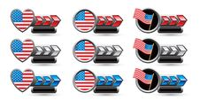 Free USA Flag Icons Stock Images - 20114804