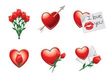 Free Heart And Rose Symbols Of Love Royalty Free Stock Photo - 20114945