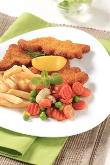 Free Fried Fish And French Fries Stock Image - 20115211