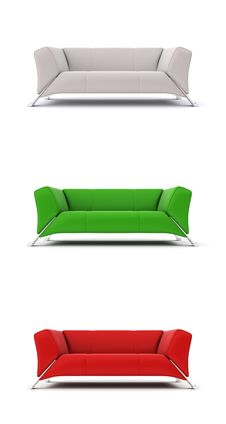 Free Colored Sofas Royalty Free Stock Images - 20115479