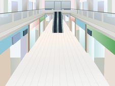 Free Shopping Mall With Two Floors Stock Image - 20115571