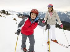 Free Young Mother And Son On Ski Vacation Royalty Free Stock Photos - 20116158