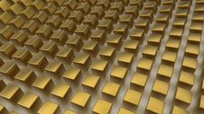 Free Array Of Golden Cubes Stock Photography - 20116402