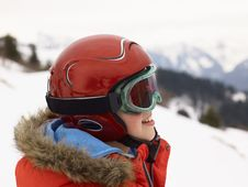Free Pre-teen Boy On Ski Vacation Stock Images - 20116924