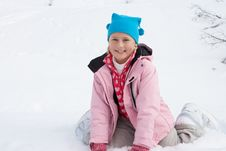Free 7 Year Old Girl On Winter Vacation Stock Photos - 20118263