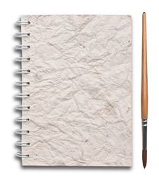 Free Notebook Old Papers With Paint  Brush Royalty Free Stock Image - 20119206
