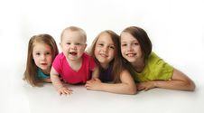 Free Four Adorable Young Sisters Royalty Free Stock Photo - 20119375