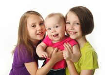 Free Three Cute Young Sisters Royalty Free Stock Photos - 20119378