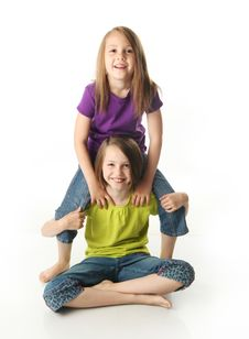 Free Sisters Goofing Off Royalty Free Stock Photography - 20119397