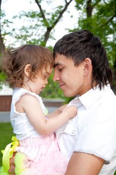 Father And The Daughter Together Stock Images