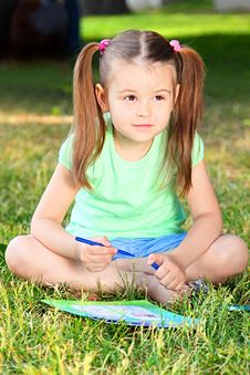 Free Portrait Of The Little Girl Stock Photography - 20119562