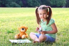 Free Portrait Of The Little Girl Stock Photo - 20119590
