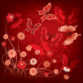 Free Abstract Illustration With Butterfly And Flowers Stock Image - 20123091