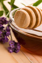 Free Lavender Honey With Fresh Flowers. Sweet Food Stock Photos - 20125723