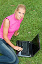 Free Young Attractive Woman Works On Her Laptop Stock Photo - 20129680