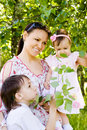 Free Mom With Kids Royalty Free Stock Photo - 20129835