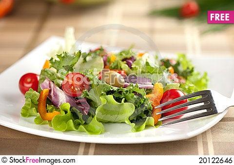 Free Vegetarian Salad Royalty Free Stock Image - 20122646