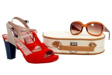 Free Beautician, Shoes And Sun Glasses Royalty Free Stock Image - 20120446
