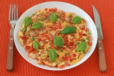 Free Omelet With Vegetables Stock Images - 20120974