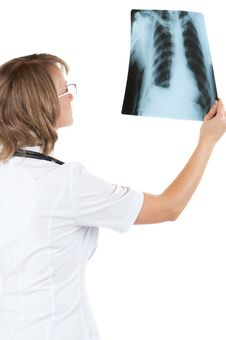 Free Doctor With X-ray Royalty Free Stock Image - 20121356