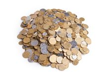 Free Heap Of Ukrainian Coins Royalty Free Stock Photos - 20121538