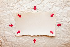Free Ripped Piece Of Paper With Red Arrows Stock Photos - 20121633