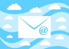 Envelope On Blue Background Royalty Free Stock Images