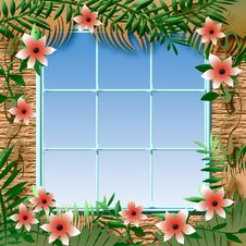 Free Tropical Window View Royalty Free Stock Photos - 20121688
