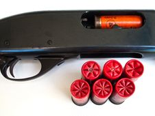 Free Cartridge And Gun. Stock Photo - 20121970