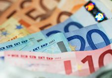 Free Macro Shot Of Euro Banknotes Focus On 20 Stock Photography - 20122352
