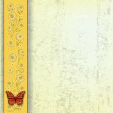 Free Abstract Grunge Illustration With Butterfly Stock Image - 20122451