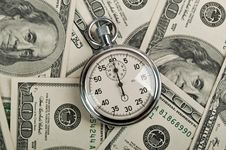 Free American Dollars And Stopwatch Royalty Free Stock Images - 20123179