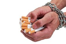 Free Man Hands With Cigarette Stock Image - 20123191