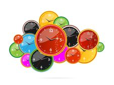 Free Creative Clock Red Color On The White Stock Photography - 20124152