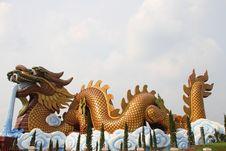 Free Dragon And White Sky. Royalty Free Stock Photo - 20124215