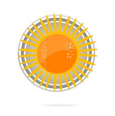 Free Sun Symbol Yellow Color On The White Royalty Free Stock Photography - 20124227