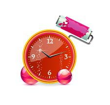 Free Glass And Clear Red Clock Time Sign Stock Image - 20124431