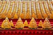 Free Detail Temple Roof. Royalty Free Stock Photo - 20125035