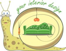 Free Snail And Interior Design Stock Photography - 20126492