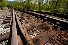 Free Angled Railroad Track Royalty Free Stock Image - 20126576