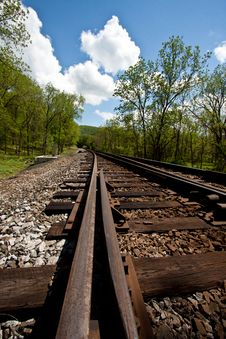 Free Down The Railroad Track Stock Images - 20126594