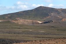 Volcanic Crater In Iceland Royalty Free Stock Image