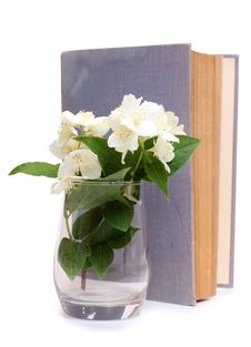 Free Book And A Bouquet Of Jasmine Stock Photography - 20127172