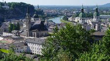 Free Salzburg Birds-eye View Royalty Free Stock Image - 20127596