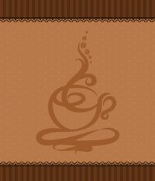 Free Illustration With Abstract Coffee Cup Stock Photography - 20128892