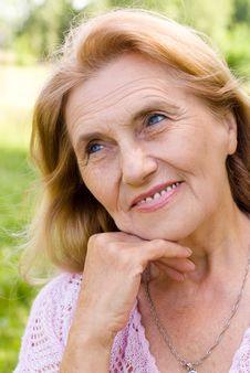 Happy Elderly Woman Stock Images