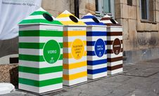 Four Containers For Recycling