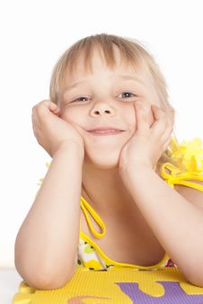 Free Little Girl Smiles Royalty Free Stock Photo - 20129425