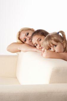 Free Family And Sofa Royalty Free Stock Photo - 20129445