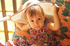 Free Cute Little Girl In Hat Royalty Free Stock Photography - 20129527